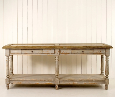 Lovely Granite Top Console Table