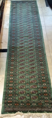 Green Bokhara Runner